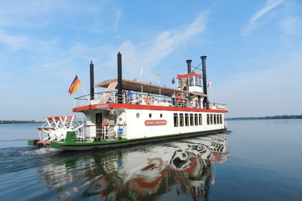 Steamboat on Lake Arendsee in the Altmark region | Picture: IMG - Luftkurort Arendsee