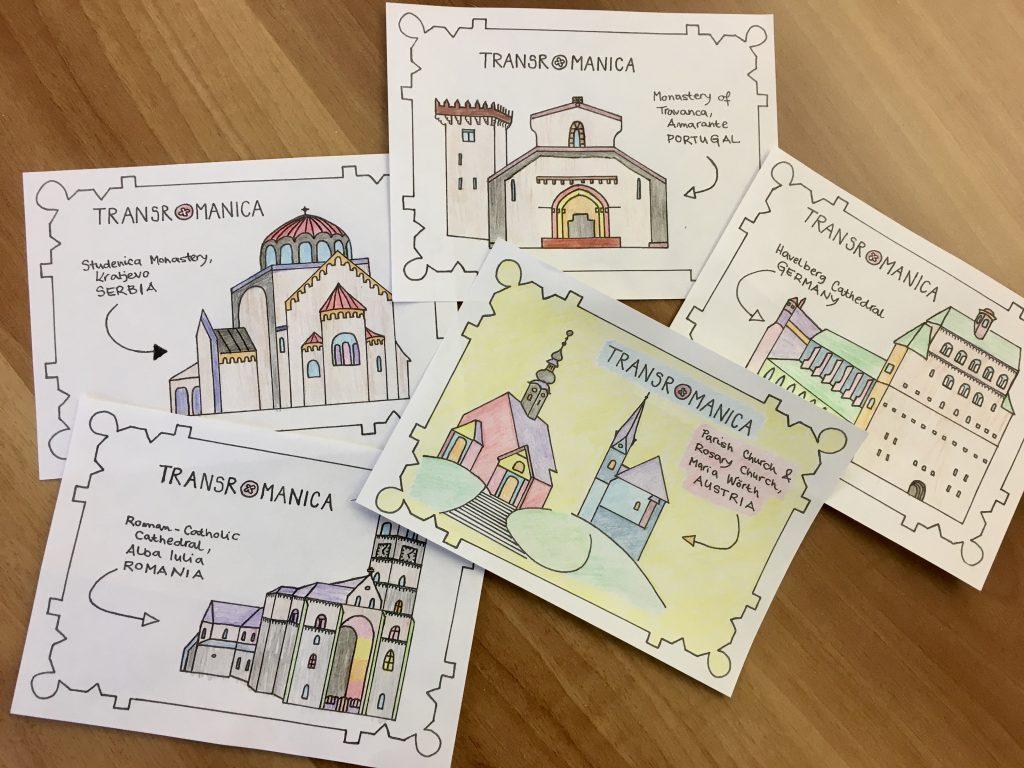 Coloured TRANSROMANICA Postcards